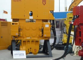 Used vibro hammer PVE 40 VM to work on a crane or piling rig