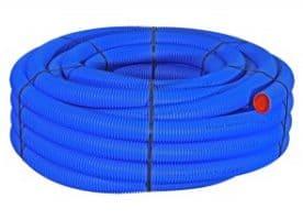 Flexibles Lüftungsrohr aus Kunststoff für zentrale Hauslüftung, 1 Rolle, 50 Meter, Durchm. 50 mm