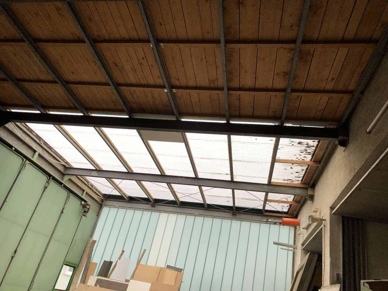 Dachkonstruktion  ca. 12,50m breite und 7,50 tiefe aus Metall
