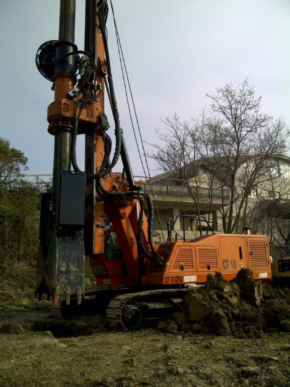 New piling / drilling rig  Tescar CF8 DW