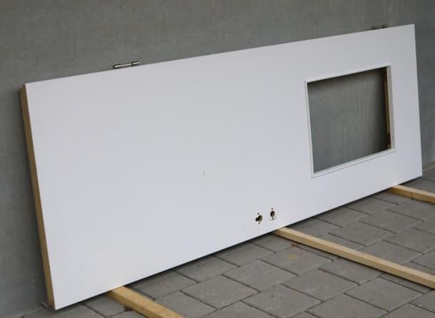 Röhrenspan-Holztürblatt mit Ausschnitt für Sichtfenster, 0,76 x 2,135 m, inkl. Stahlzarge