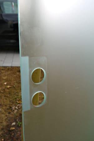 Ganzglastüre ESG 10 mm, mattiert und Bodendichtung, inkl. 2-teiliger Stahlzarge, DIN rechts