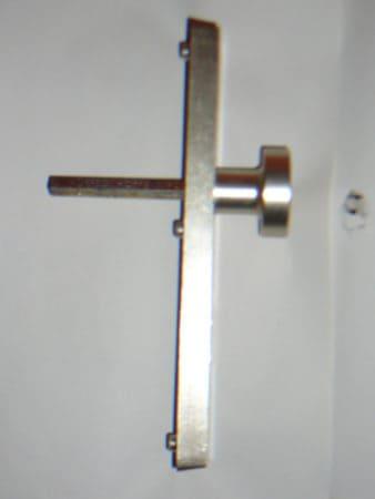 Drücker-Knauf Garnitur, Hoppe, Messing, Abstand Drücker-Türzylinder 72 mm