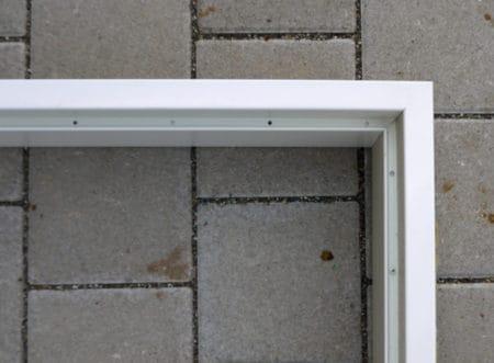2-teilige Stahl-Umfassungszarge,  Novoferm Profil 2140, 0,885 x 2,135 m, DIN links