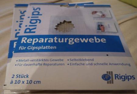 Rigips Reparaturgewebe für Gipsplatten