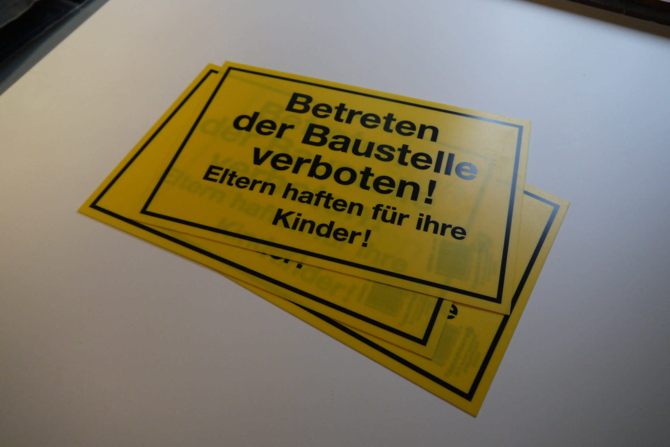 Schild - Betreten der Baustelle verboten* ...