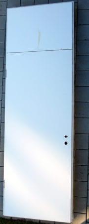Holztüre mit Oberblende, Schallschutz 32 db, DIN links, absenkbarer Bodendichtung, h = 2,75 m