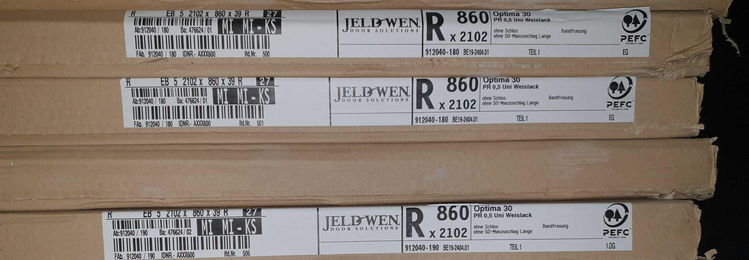 Jeld-Wen Modell Optima 30 Uni Weiß Lack
