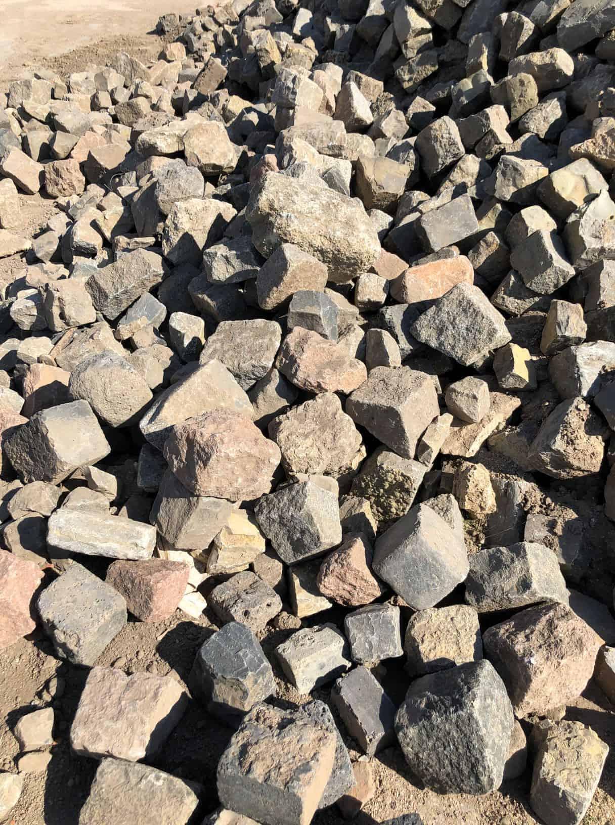 Pflastersteine verschiedene Sorten