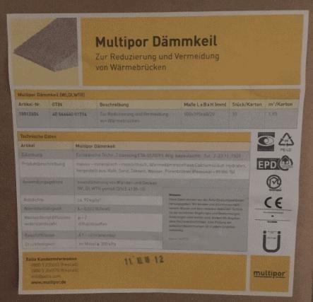 Multipor Dammkeil