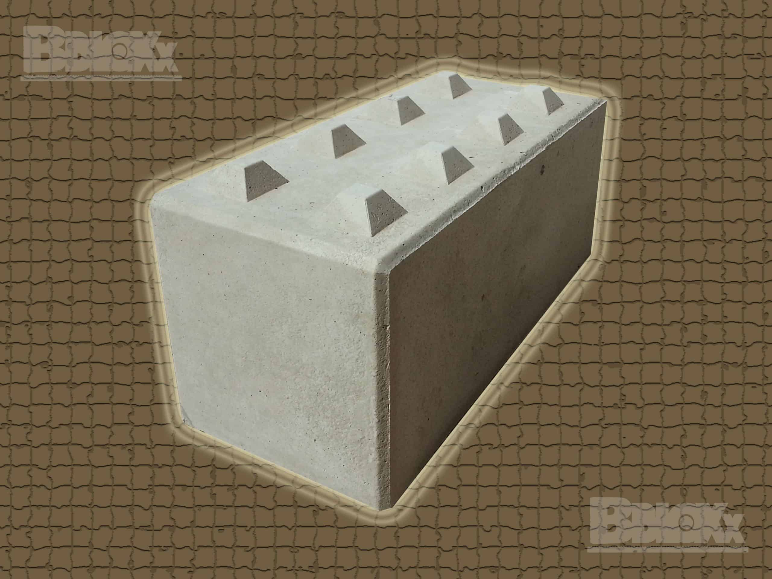BBloxx-Schnellbaustein | 1.600 x 800 x 800 mm | Beton-Legostein, Betonblock, Beton-Stapelstein