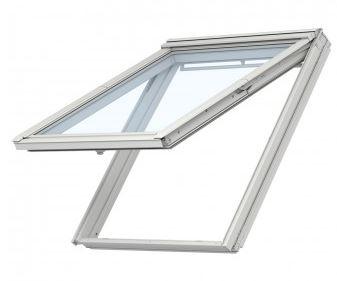Velux Klapp-Schwing Dachfenster GPU CK04 0066 55×98 cm inkl. Innenfutter (LSB CK04 C04 2000) und Eindeckrahmen (EDZCK04 2000)