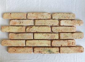 Gelb bunte Ziegel Verblendsteine Klinkerriemchen original Mauerziegel Backstein rustikal Loftoptik Steinwand Wandverkleidung Wandpaneele Ziegelwand Fliesen