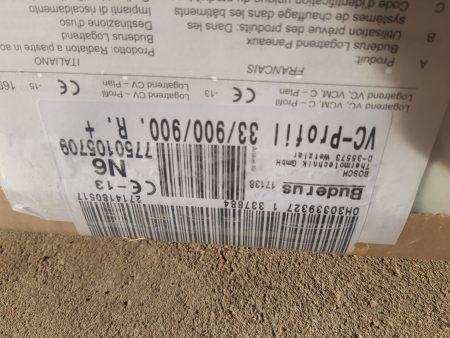 Buderus Flachheizkörper Logatrend VC Profil 33/900/900 R, FMS, Stopfen