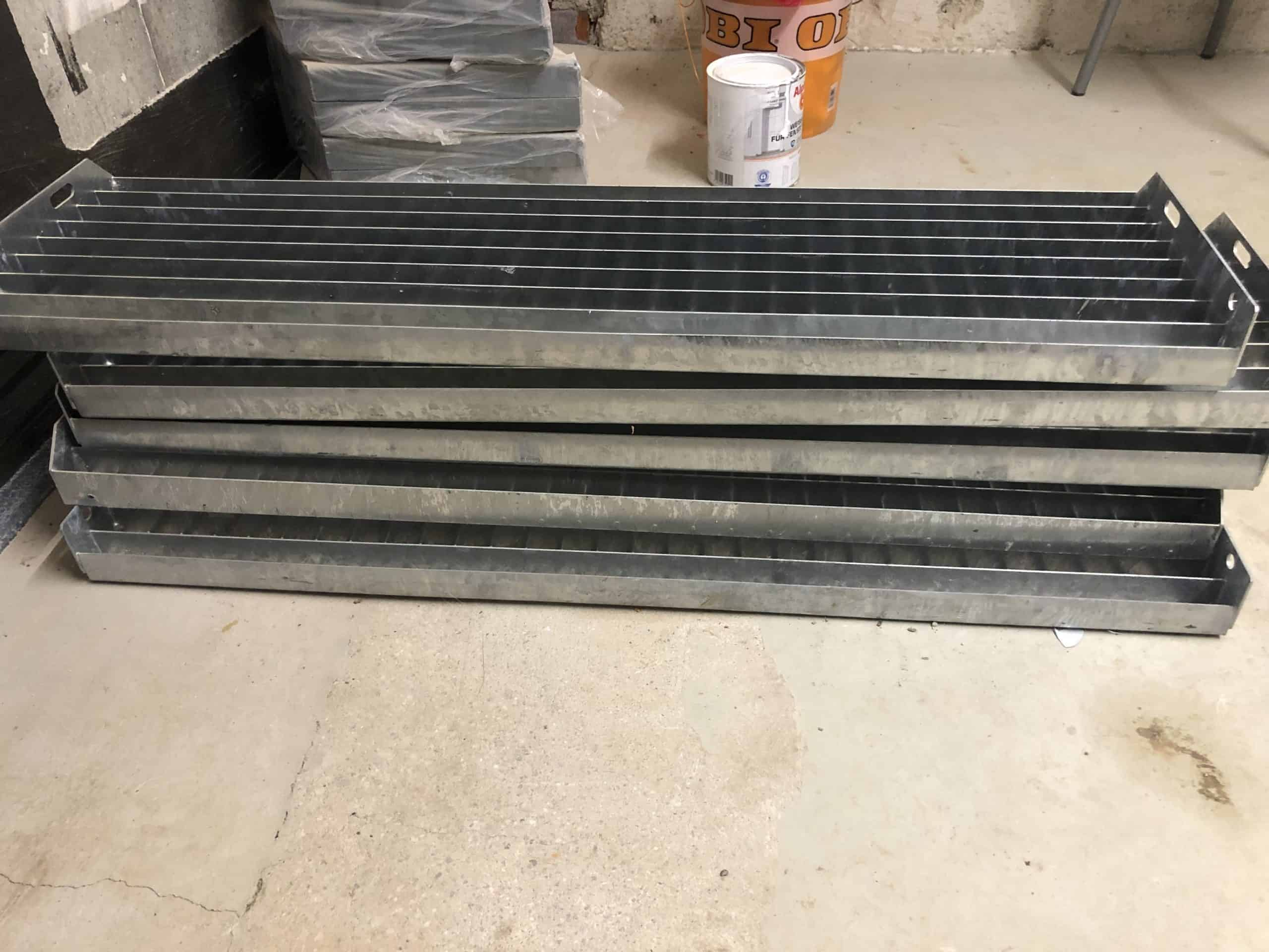Stahlwangentreppe Innotec, 5 Stufen: Stufenbreite 1.000 mm