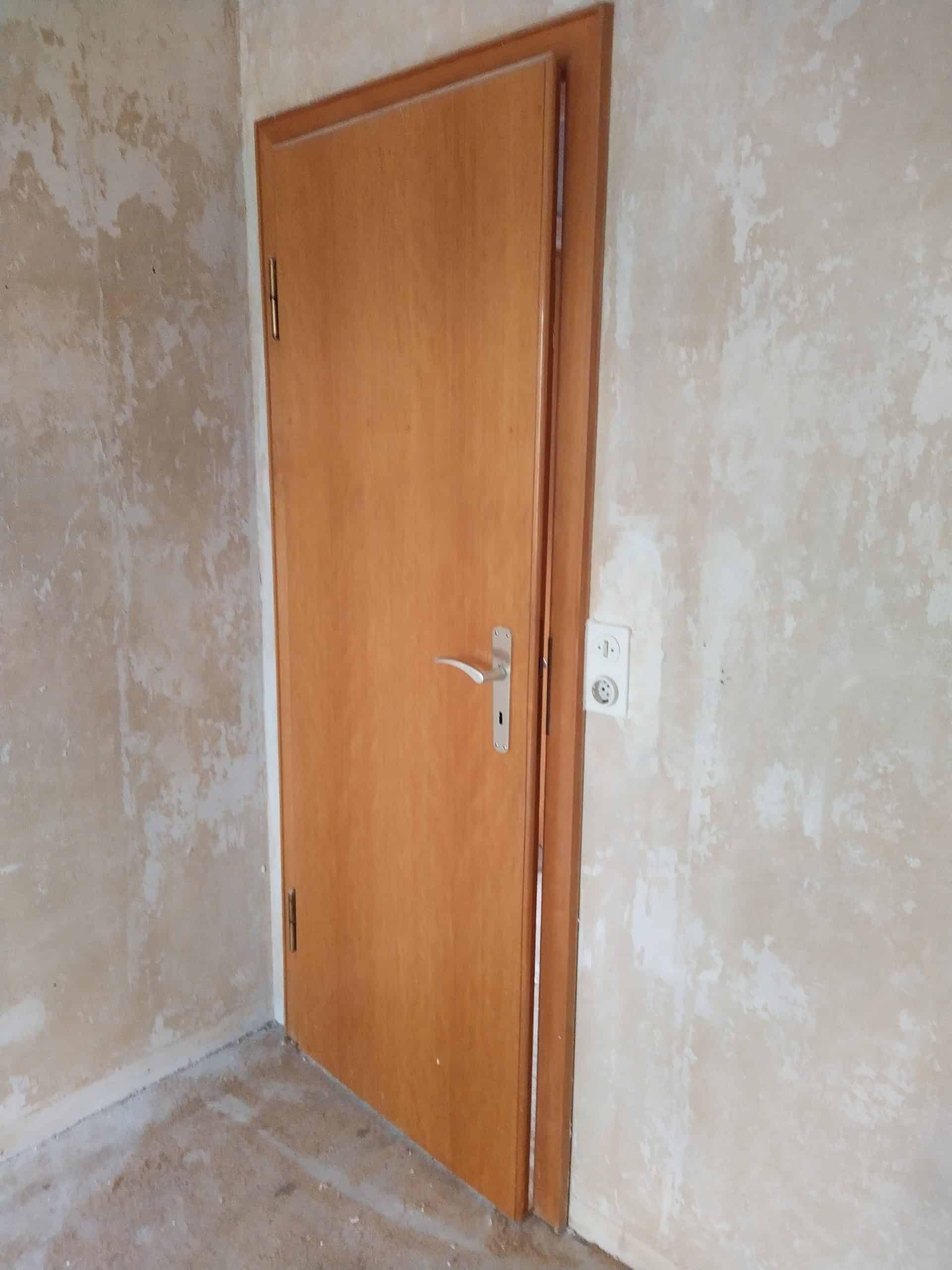Zimmertür (1960er Jahre), Holz natur lackiert, 76er Breite