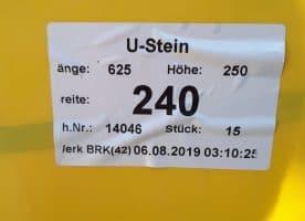 YTONG U-STEINE 30 Stk. / 2 Paletten original verpackt!!