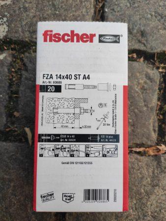 Fischer Schraube Zykon-Bolzenanker FZA 14×40 M10/25 A4