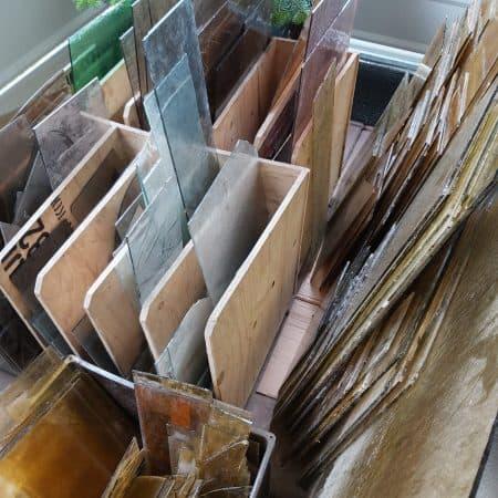 Glas und Bruchglas antik für Restaurationen